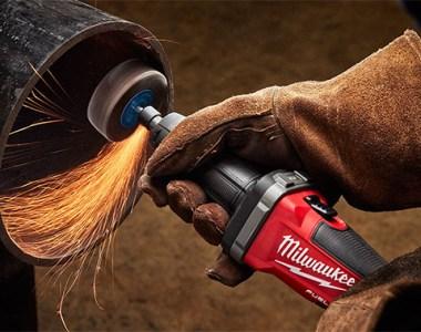 Milwaukee M18 Fuel Die Grinder 2784-22 Grinding Inside Pipe