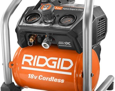 Ridgid 18V cordless 1 gallon compressor product shot