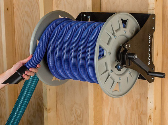 Rockler Dust Right Shop Vacuum Hose Reel Product Shot