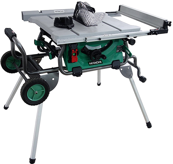 Hitachi C10RJ Table Saw with Roll Stand