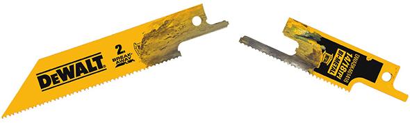 Dewalt DWABK461418 Break-Away Reciprocating Saw Blade Fully Separated