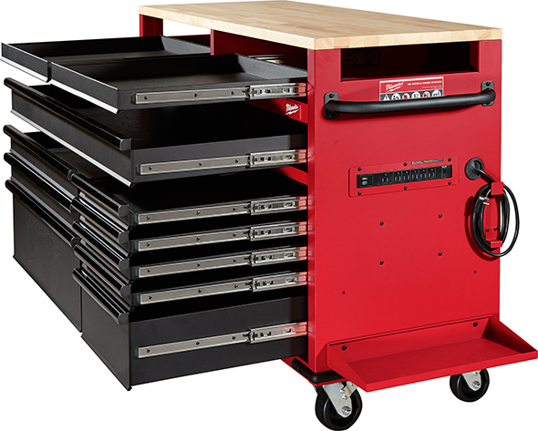 Milwaukee 52-Inch Mobile Workbench 48-22-8522 Drawer Slides