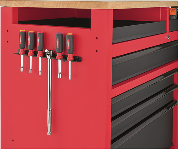 Milwaukee 52-Inch Mobile Workbench 48-22-8522 Screwdriver Storage