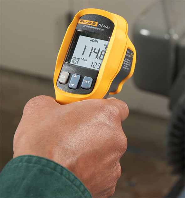 Fluke 64 Max IR Thermometer in-Hand