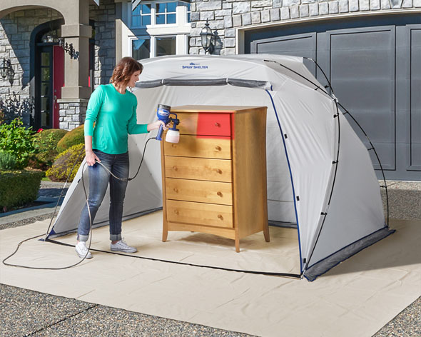 HomeRight Large Spray Shelter spray painting furniture outdoors