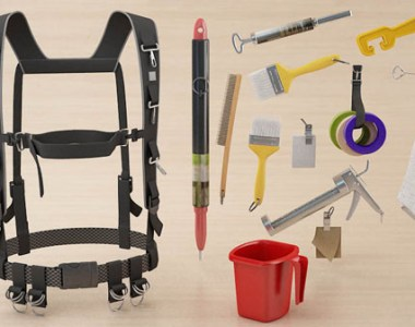 King's Harness with typical painter's tools