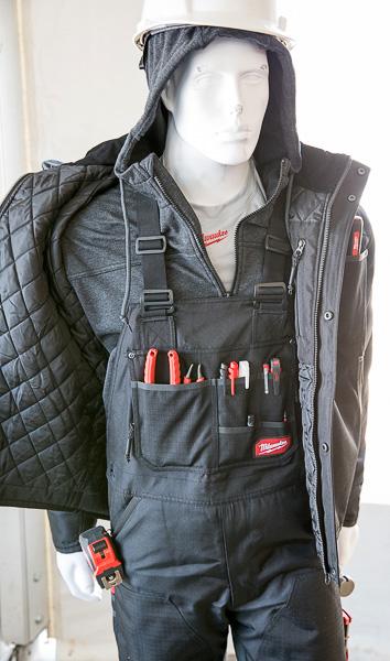 Milwaukee GridIron Bib Overalls and Other Work Wear on Manequin