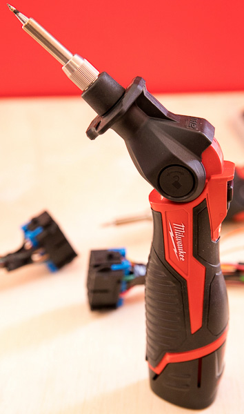 Milwaukee M12 Cordless Soldering Iron Angled Head