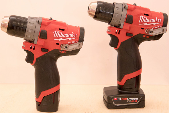 Milwaukee M12 Fuel 2nd Gen Brushless Drills with Compact and XC Batteries
