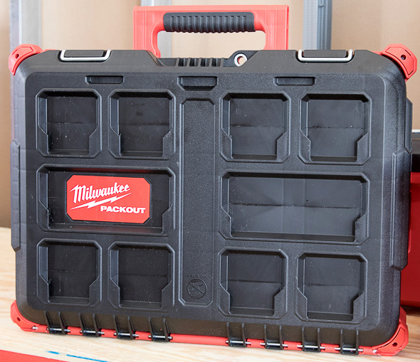 Milwaukee Packout Small Tool Box Standing Vertically