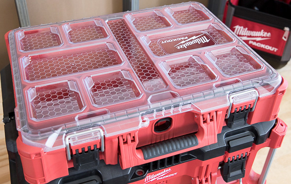 Milwaukee Packout Tool Storage Large Organizer with Clear Lid