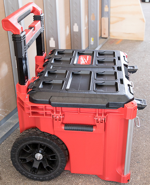 Milwaukee Packout Tool Storage Roller Tool Cart Side