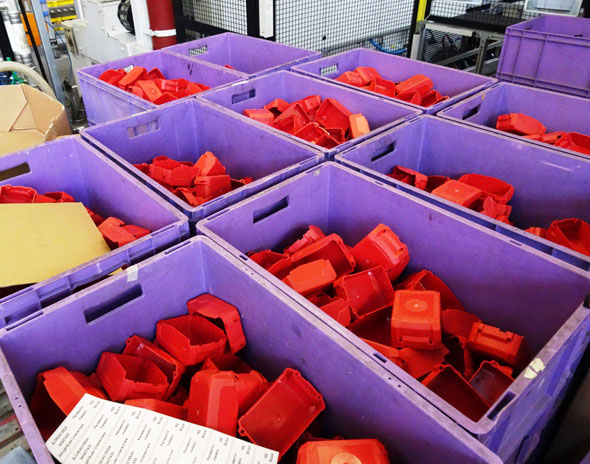 injection molded plastic parts at metabo factory