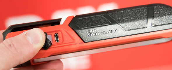 Milwaukee Rover USB Rechargeable LED Flashlight Charging Port