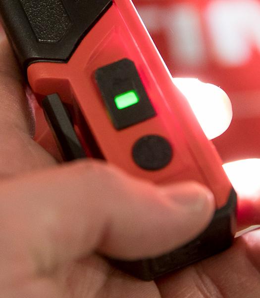 Milwaukee Rover USB Rechargeable LED Flashlight Green On Light