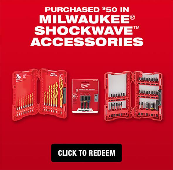 Milwaukee ShockWave Rebate