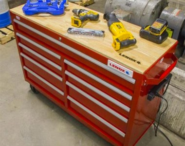 Lenox Tool Cabinet WorkBench in Action