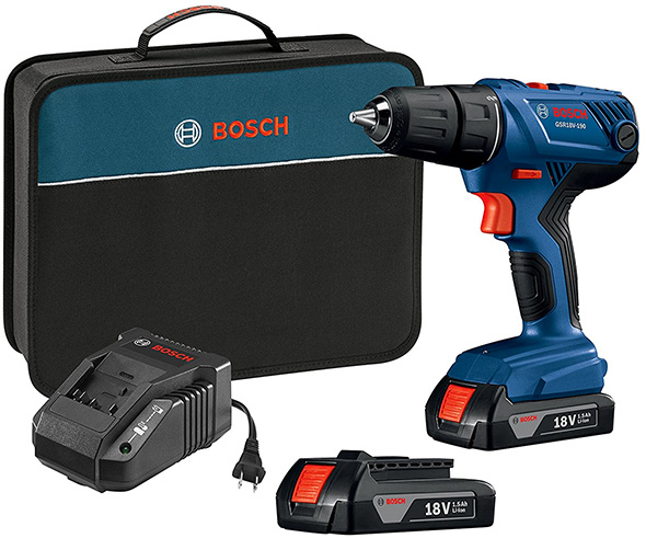 Bosch GSR18V-190B22 18V Drill Kit with Batteries and Charger