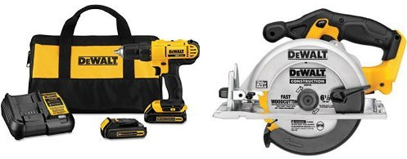 Dewalt DCD771 Drill Kit and Circular Saw Bundle