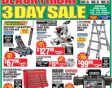 Harbor Freight Black Friday 2017 Tool Deals Updated Page 1