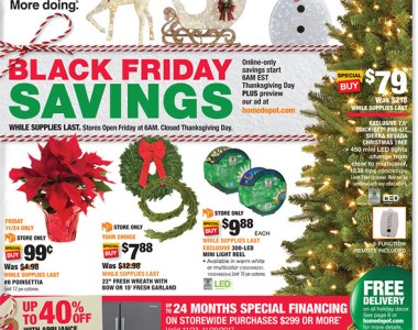 Home Depot Black Friday 2017 Tool Deals Ad Page 1