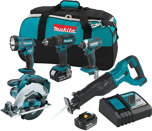 Makita XT505 18V 5-Tool Cordless Combo Kit