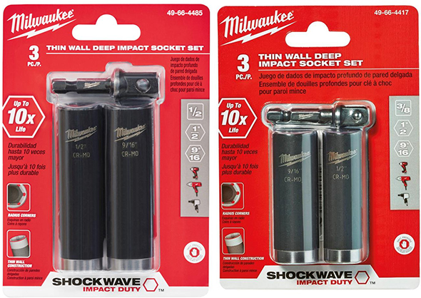 Milwaukee Shockwave Small Impact Socket Sets