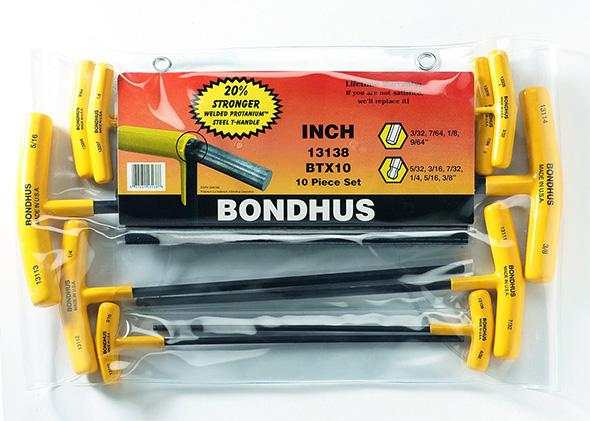 Bondhus T-Handle Hex Driver Set