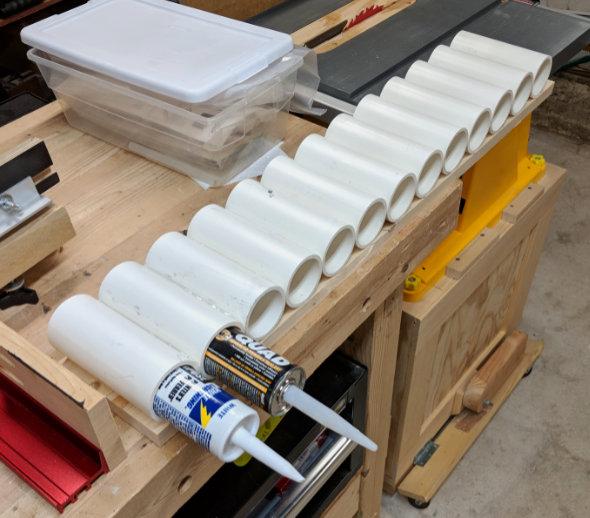 Constructing the caulk rack