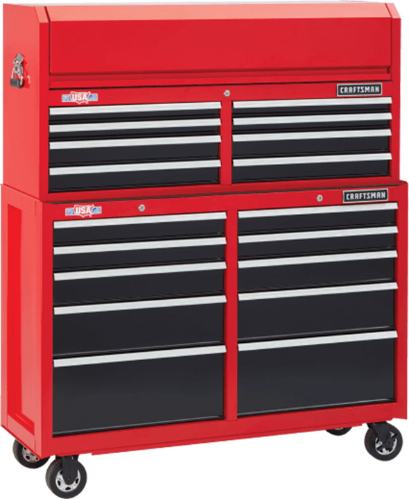 Craftsman 52-inch Tool Storage Combo Red and Black 2018