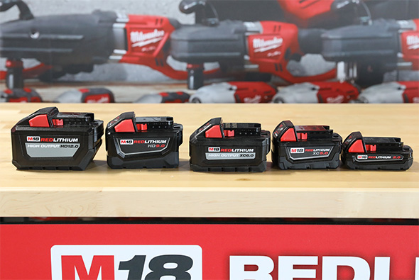 Milwaukee M18 Battery Pack Lineup