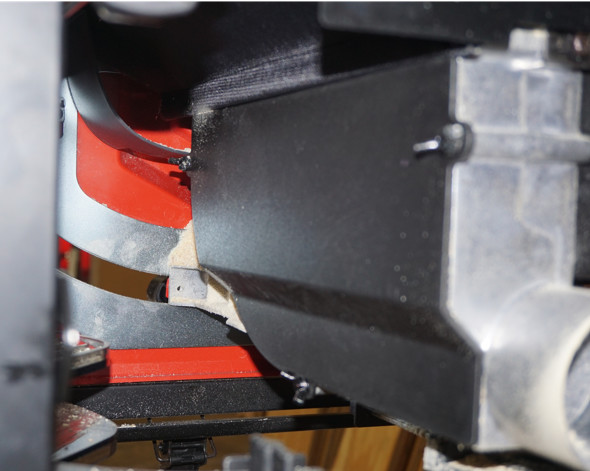 Milwaukee M18 Fuel table saw under table dust collection