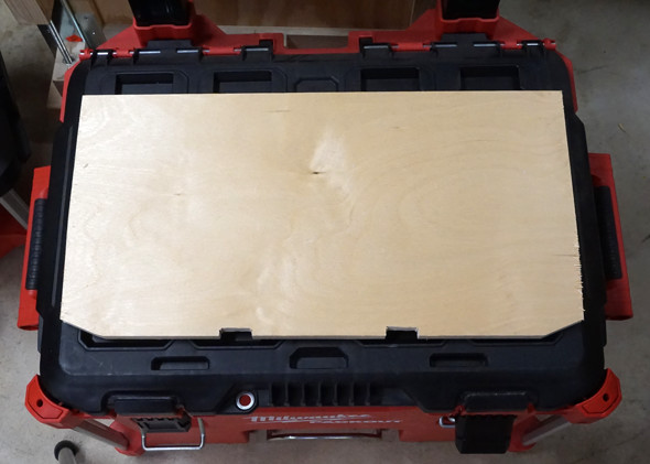 Milwaukee Packout rolling toolbox divider 2