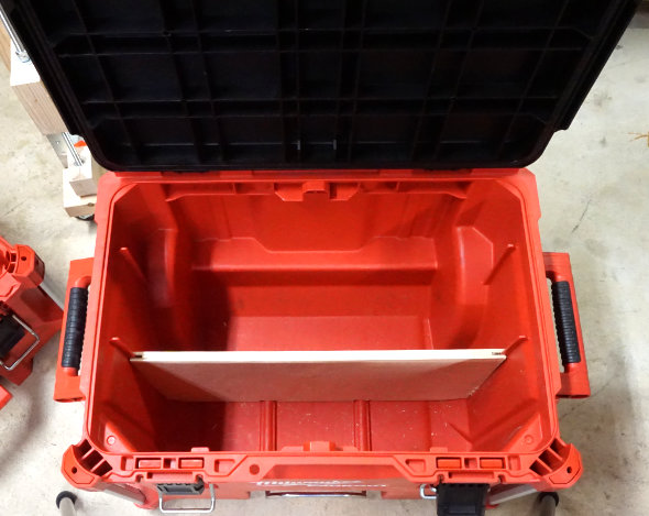 Milwaukee Packout rolling toolbox divider
