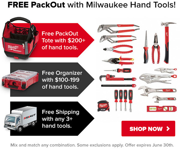 Tool Nut Milwaukee Hand Tools and Packout Promo June 2018