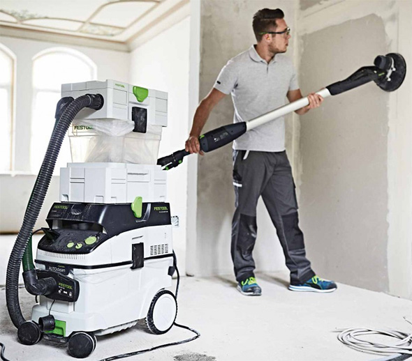 Festool CT Cyclone Attached to Dust Extractor