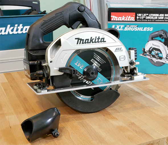 Makita XSH04ZB 18V Sub-Compact Brushless Circular Saw with Dust Blower Adapter