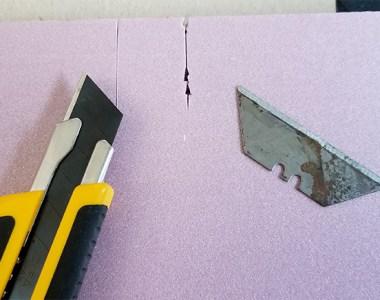 Olfa Knife Cutting Foam Insulation Material