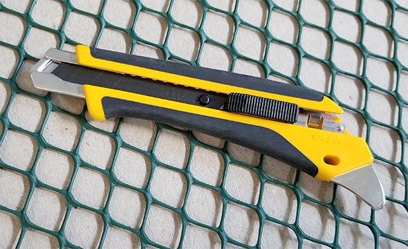 Olfa Knife Cutting Plastic Wire Mesh