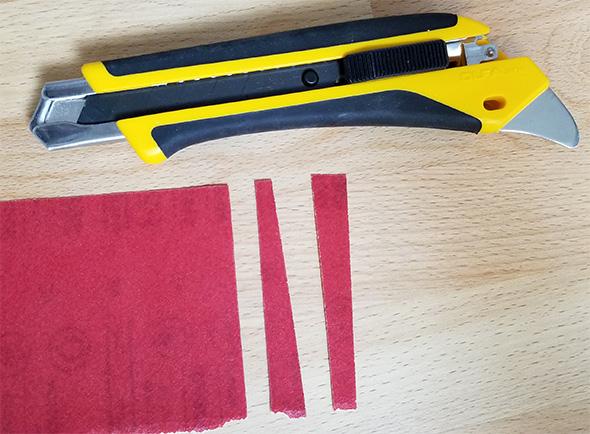 Olfa Knife Cutting Sandpaper