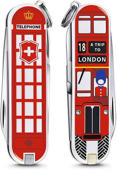 Victorinox Swiss Army Knife London Keychain