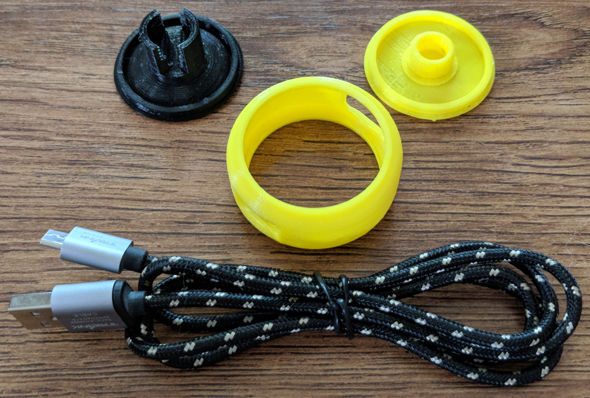 3D Printed Cord Wrapper Pieces