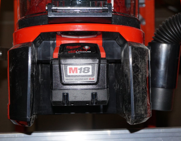 Milwaukee M18 Fuel BackPack Vacuum battery compartment