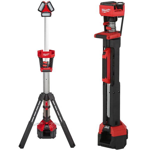 Milwaukee M18 Rocket LED Light Tower with Charger