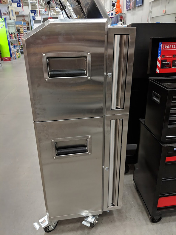 Kobalt Stainless Steel Tool Storage Combo with Vertical Pegboard Drawers