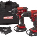 Sears Craftsman 20V Cordless Drill and Impact Driver Combo Kit