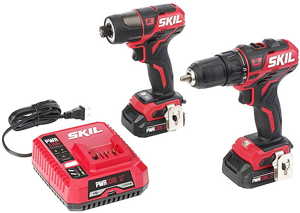 Skil PWRCore 12 Brushless Drill and Impact Driver Kit