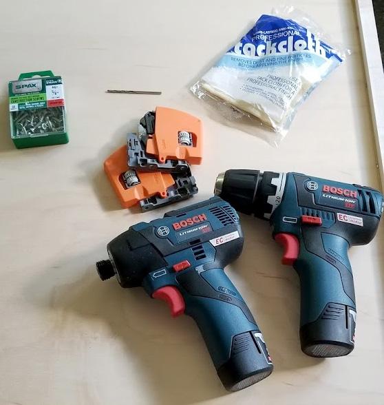 Bosch 12V Tools for Cabinet Drawer Installs