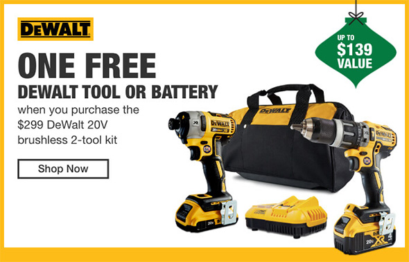 Home Depot Cordless Power Tools Holiday 2018 Tiered Savings Event Dewalt Promo 1