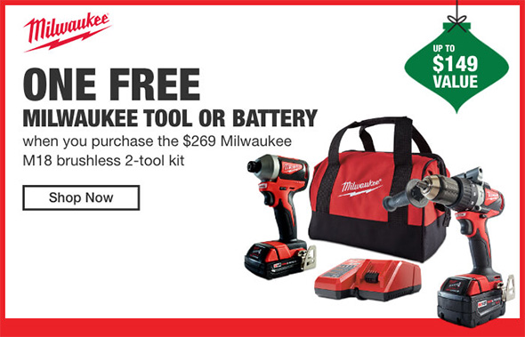 Home Depot Cordless Power Tools Holiday 2018 Tiered Savings Event Milwaukee Promo 1